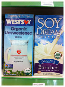 Healthy Options soymilk