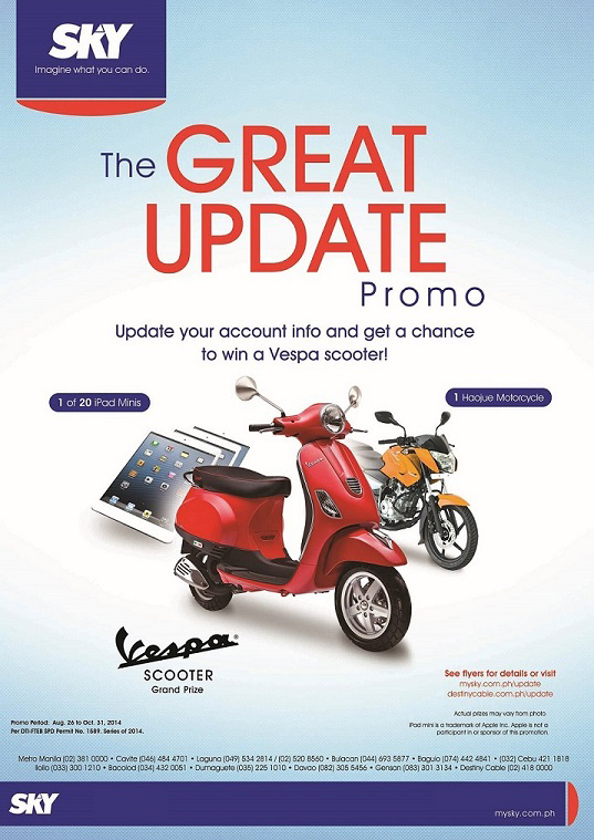 Join Sky's 'The Great Update' promo