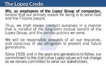The Lopez Credo